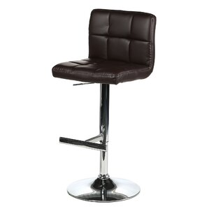 Romeo Adjustable Height Swivel Bar Stool by Wade Logan