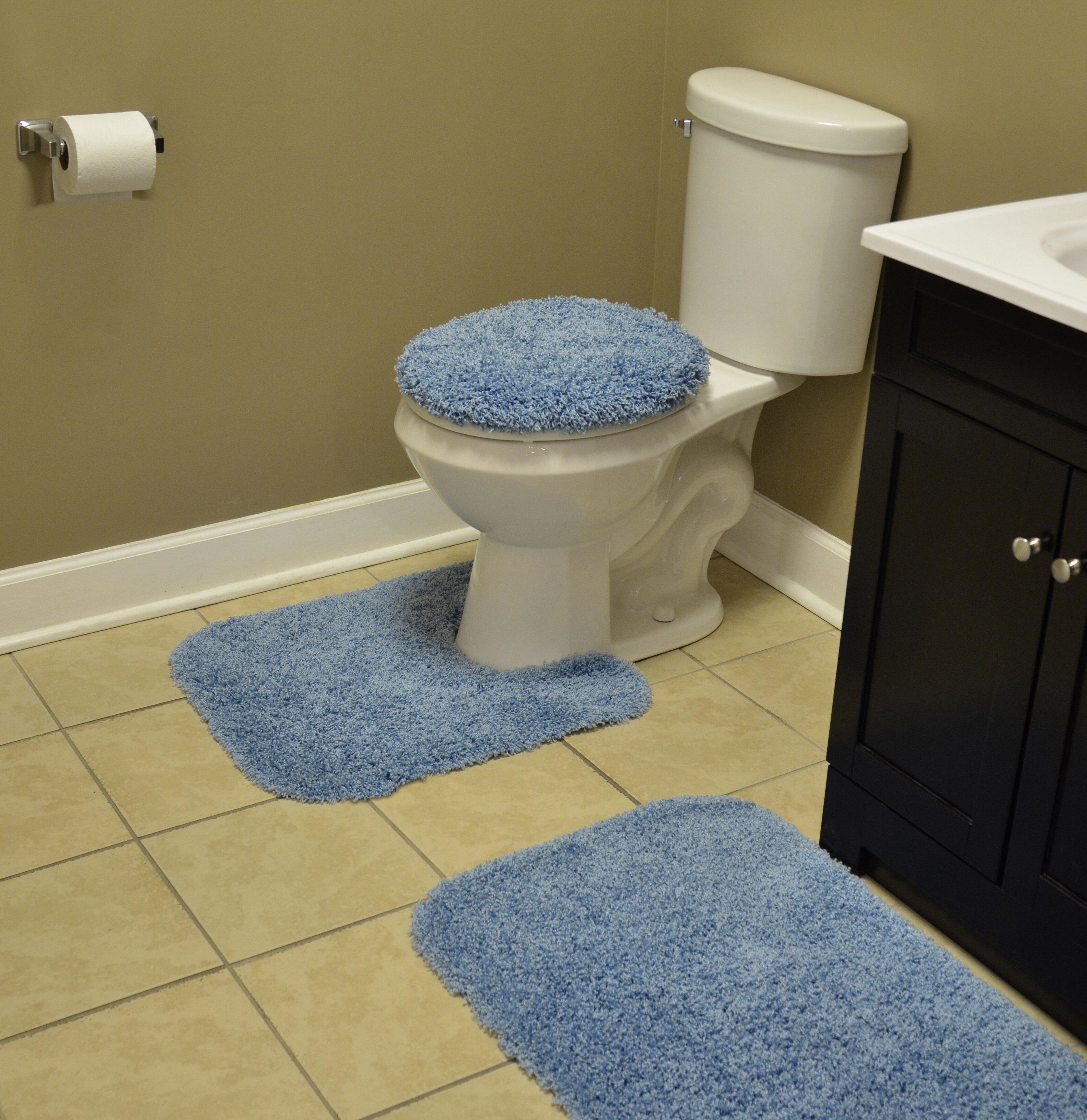 Wildon Home Dextra Multiple Nylon Non Slip 3 Piece Bath Rug Set Reviews Wayfair