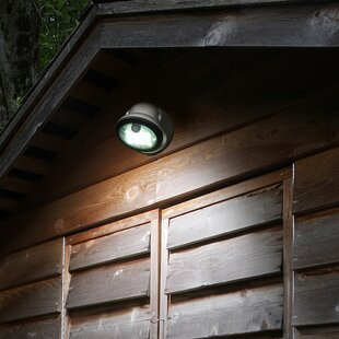 Online Reviews Maude 12-Light LED Outdoor Flush Mount with Motion Sensor By Symple Stuff