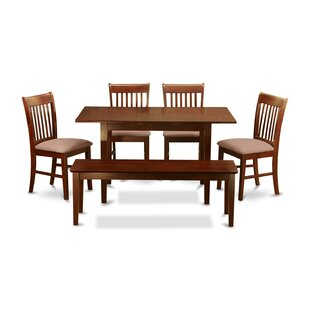 Three Posts Phoenixville 6 Piece Extendable Dining Set