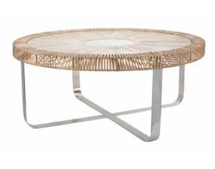 Bayou Breeze Kiernan Rattan Coffee Table