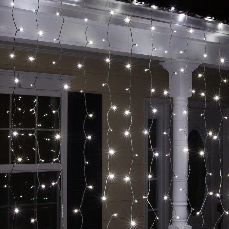 150 Cool White 5mm LED Icicle Light Set