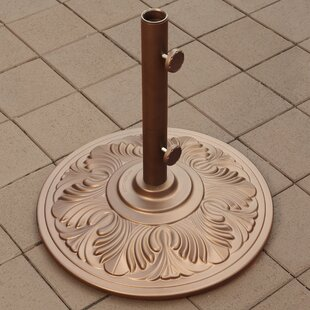Atlas Art Deco Aluminum Umbrella Base In Bronze by Beachcrest Home Modern