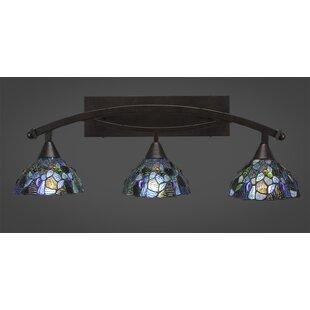 Reviews Austinburg 3-Light Mosaic Tiffany Glass Shade Vanity Light By Astoria Grand