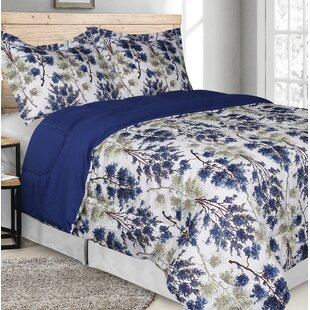 Gwinnett Goose Down Alternative Rich Printed Comforter Set