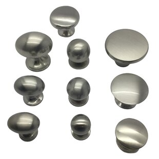 Kitchen Cabinet Door Drawer Knob Flush Metal Pull Handle Round Knob (Set of 2) by Beauty Acrylic