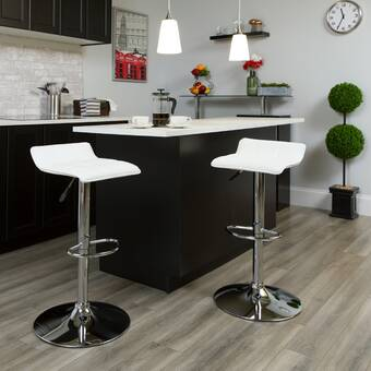 Zipcode Design Troutville Adjustable Height Swivel Bar Stool Reviews Wayfair