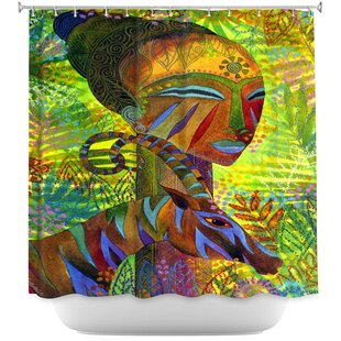 Guide to buy African Queens Shower Curtain By East Urban Home