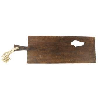 Bloomingville Rubberwood Plate Large Brown