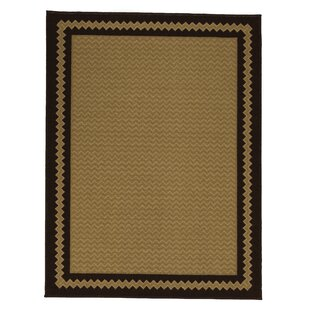 Arline Rubberback Rectangle Brown Indoor/Outdoor Area Rug