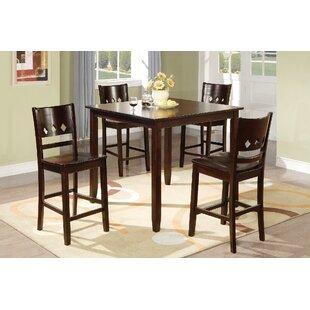 Fessler 5 Piece Solid Wood Dining Set