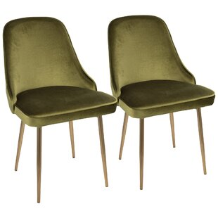 Orren Ellis Mariselys Contemporary Velvet Upholstered Dining Chair (Set of 2)