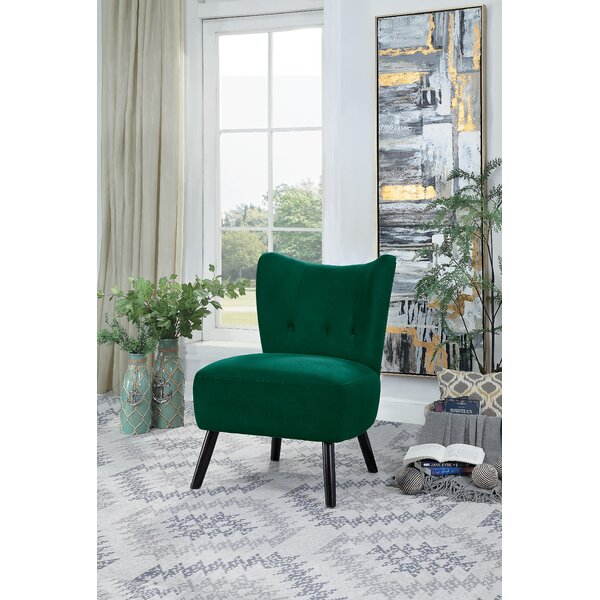 Swell Green Velvet Chair Wayfair Ca Caraccident5 Cool Chair Designs And Ideas Caraccident5Info