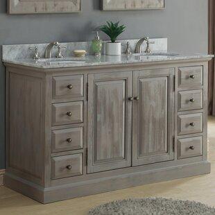 61 Double Bathroom Vanity Set by InFurniture