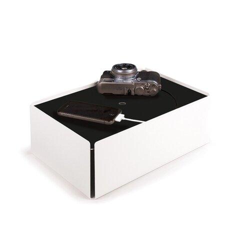 Kabelbox aus Stahlblech / Filz ClearAmbient Farbe: Weiß / Schwarz | Baumarkt > Elektroinstallation > Weitere-Kabel | ClearAmbient