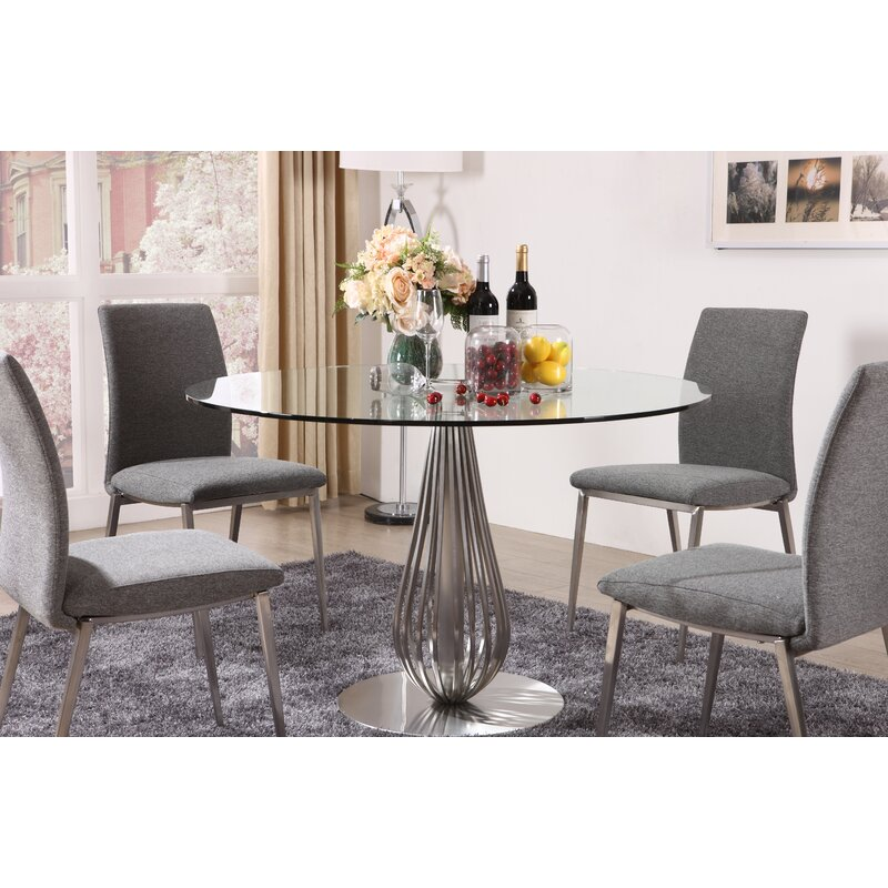 Hokku Designs 5 Piece Round Glass Dining Set Wayfair Ca