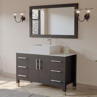 Jessa '' Bathroom Vanity Set with Mirror 47 Single Bathroom Vanity Set with Mirror by Ivy Bronx