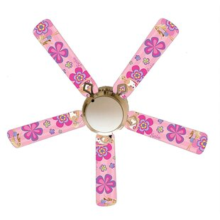 52 Fashion Barbie 5 Blade Ceiling Fan, Light Kit Included by 888 Cool Fans