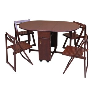 Saviour 5 Piece Solid Wood Dining Set by TTP Furnish
