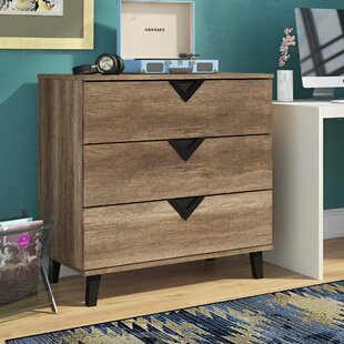 Clevenger Wood 3 Drawers Chest by Trule Teen