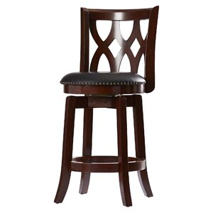 Marblehead  24 Swivel Bar Stool by Alcott Hill