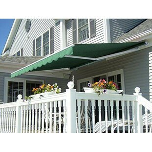 Alvin 12 ft. W x 10 ft. D Retractable Patio Awning by Freeport Park
