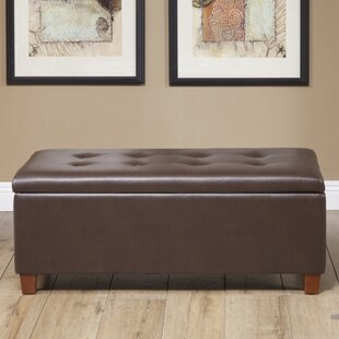 Tamesbury Faux Leather Storage Bench by Andover Mills Amazing