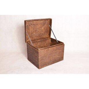 artifacts trading Rattan Small Rectangular Hinged Trunk