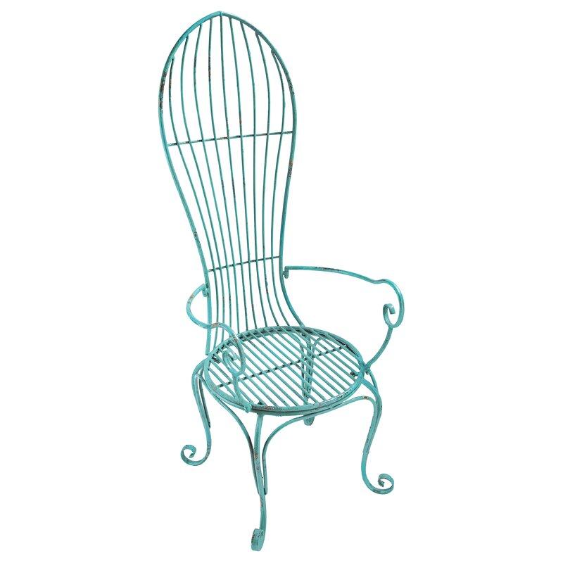 Design Toscano Balloon Back Metal Garden Arm Chair | Wayfair