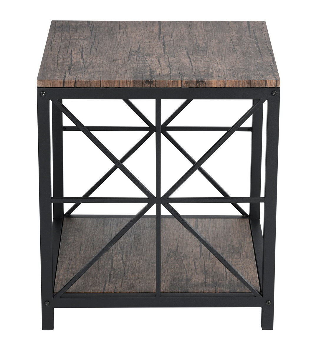 Gracie Oaks Millikan End Table With Storage Reviews Wayfair