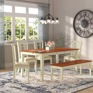 Pillar 6 Piece Extendable Dining Set by A..