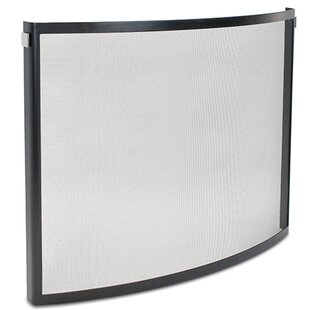 Odessa Bowed Single Panel Fireplace Screen by Pilgrim Hearth