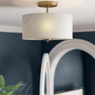 Rios 2-Light Semi Flush Mount by Mercer41