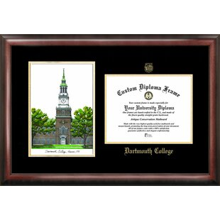 NCAA Dartmouth College Gold Embossed Diploma with Campus Images Lithograph Picture Frame By Campus Images