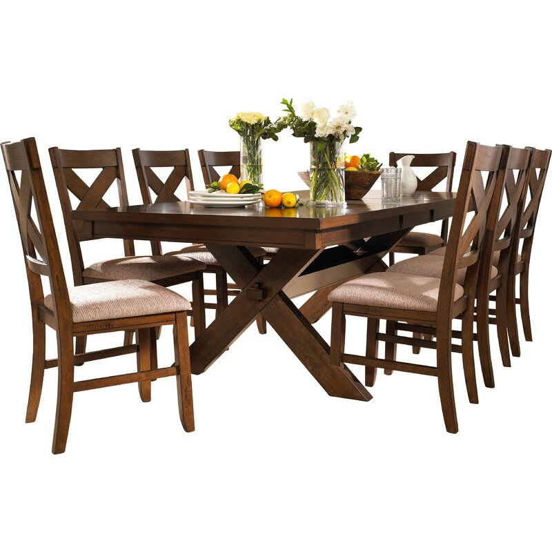 Laurel Foundry Modern Farmhouse Isabell Extendable Solid Wood Dining Set Reviews Wayfair