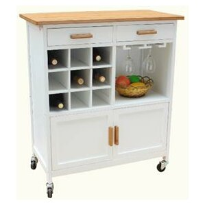 Oaken Kitchen Cart with Butcher Block by JA Marketing Buy