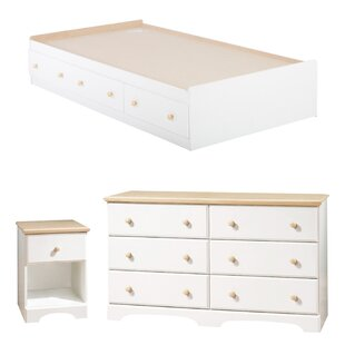 Affordable Price Newbury Twin Platform Configurable Bedroom Set By South Shore