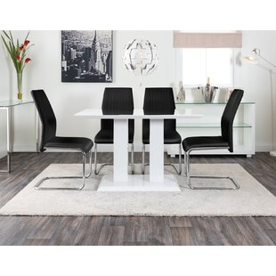 Fargo Dining Set With 4 Chairs By Metro Lane