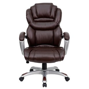 Price comparison Personalized Genuine Leather Executive Chair by Flash Furniture Reviews (2019) & Buyer's Guide