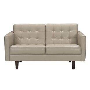 Brayden Studio Erykah Leather Loveseat