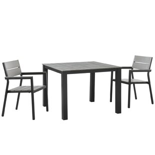 Windsor Outdoor Patio 3 Piece Dining Set
