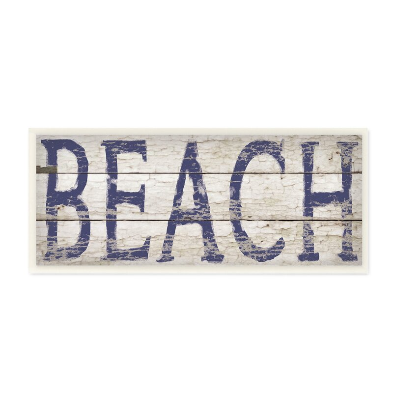 Distressed Beach Wall Plaque