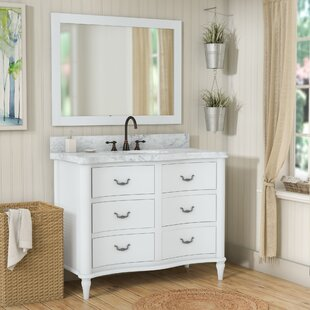 Reviews Kingston Seymour Wood 49 Single Bathroom Vanity Set with Mirror By Ophelia & Co.