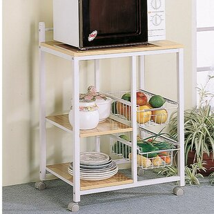 Symple Stuff Lasher Kitchen Cart with Solid Wood