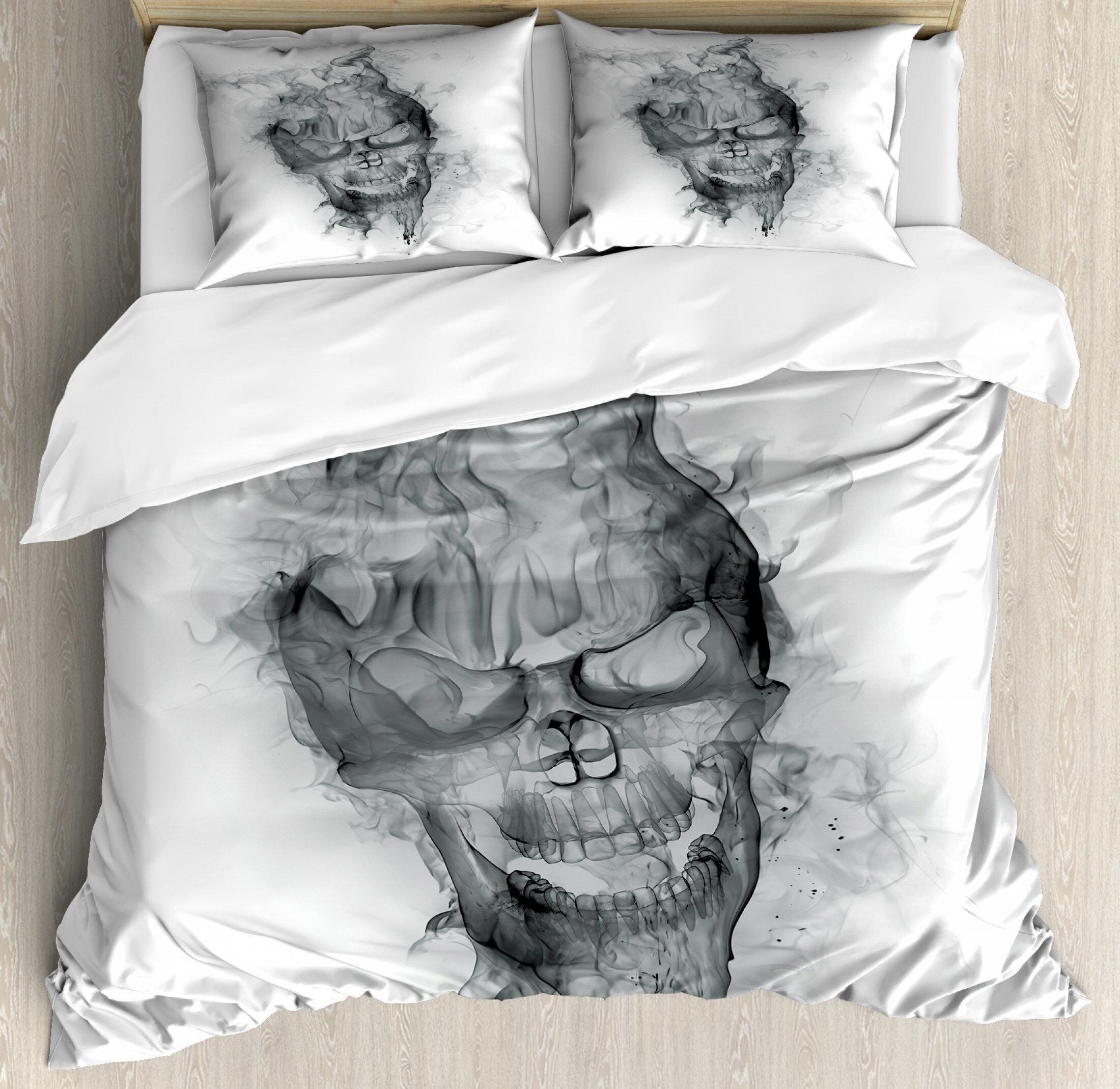 East Urban Home Skull Duvet Cover Set Wayfair