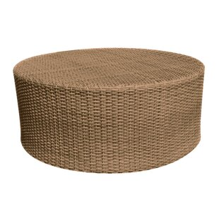 Saddleback Round Cocktail Wicker Coffee Table
