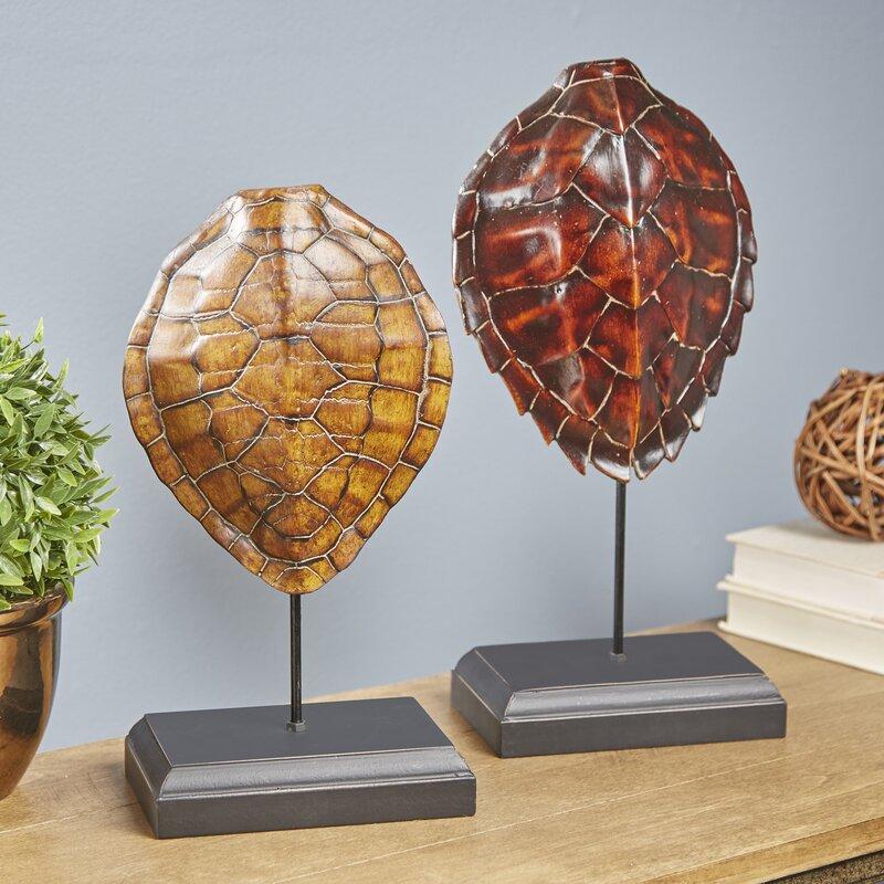 Well known Birch Lane™ 2-Piece Collected Turtle Shell Decor | Birch Lane ZX56