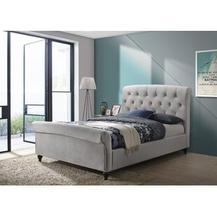 Defino Double (4'6) Upholstered Bed Frame By Rosalind Wheeler