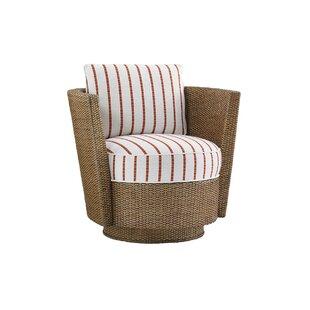 Twin Palms Swivel Barrel Chair