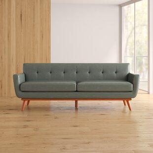 5db36affd4bc Natuzzi Leather Sofa | Wayfair